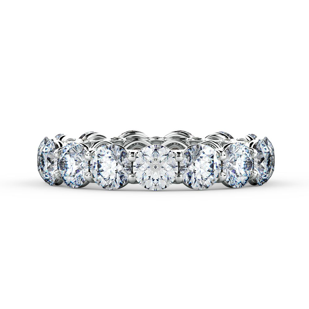 A classic eternity ring of round brilliant cut diamonds