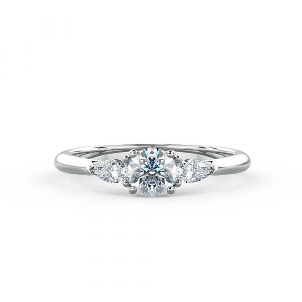 Abigail - A pear shaped diamond ring
