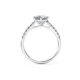 A stunning and elegant engagement ring set using a fine micro-claw