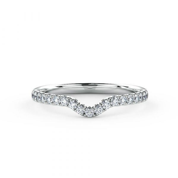Stunning piece is ideal as a contoured Eternity ring or Wedding ring