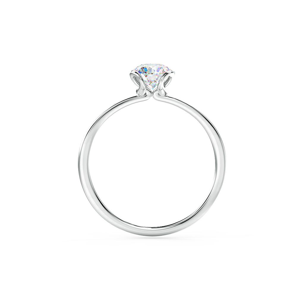 A classic engagement ring wonderfully unique from every angle
