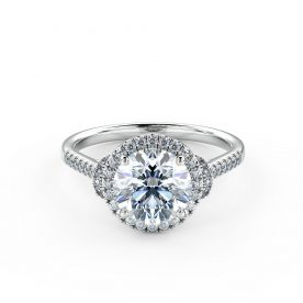 Delicate, stylish and truly unique halo engagement ring
