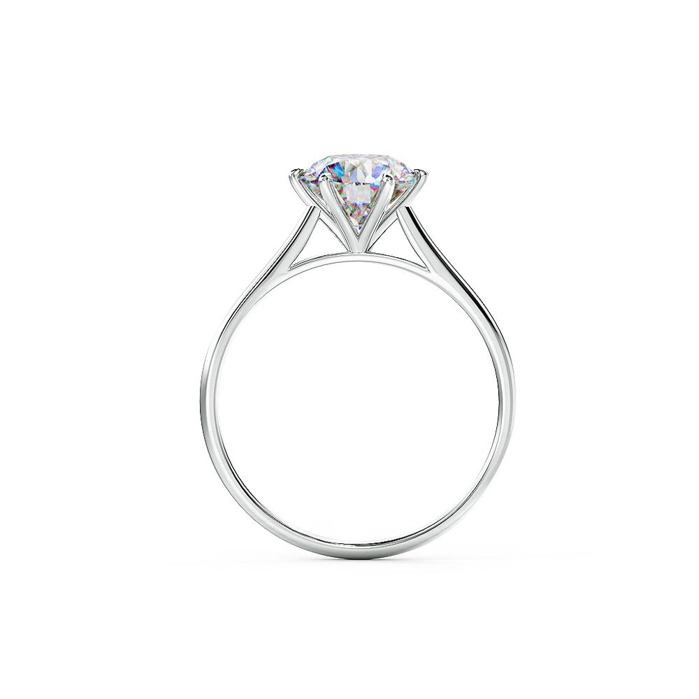 Classic engagement ring beautifully claw set with a wonderful side profile