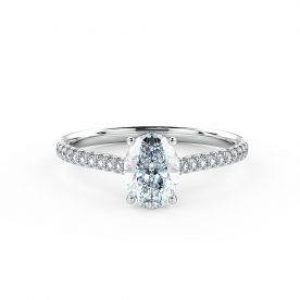 Oval engagement ring beautifully set using a fine micro-claw setting