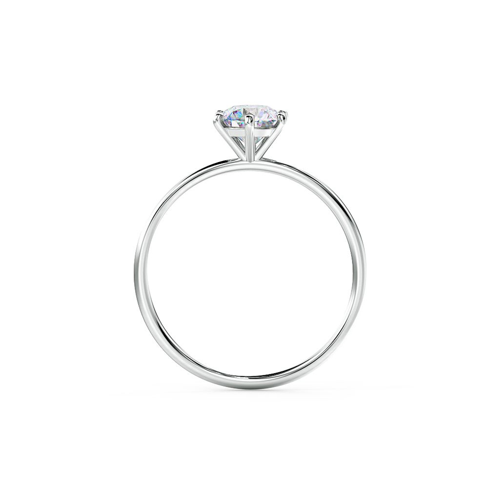 A classic engagement ring beautifully claw set