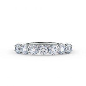 A truly classic Eternity ring set with 7 Round brilliant cut diamonds