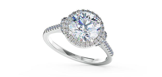 Halo Diamond Rings Hatton Garden